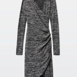 Aritzia Wilfred Free Klum Bodycon Gray Knit Dress